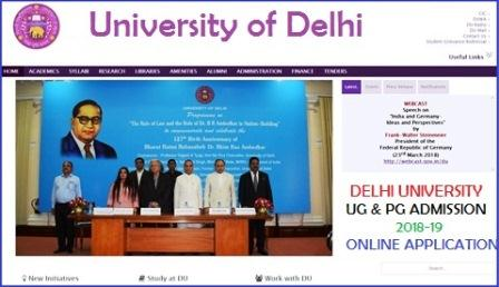 delhi university admission 2018