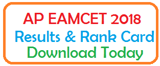 AP EAMCET 2018 Results & Rank Card