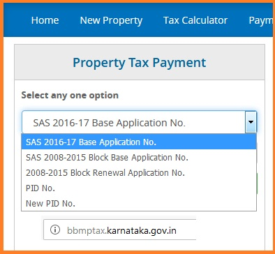BBMP Property Tax Online Payment 2018-19
