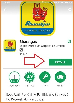 bharat gas android app activation code
