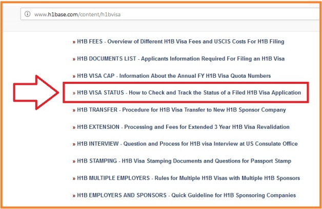 H1B VISA STATUS Check Track Status of a Filed H1B Visa Application