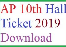 ap 10th class hall tickets 2019 download