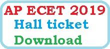 AP ECET 2019 Hall ticket Download