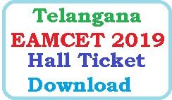 Telangana EAMCET 2019 Hall Ticket Download