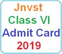 jnvst class 6 admit card hall ticket download