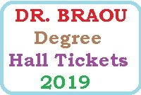 BRAOU Degree Hall Tickets 2019 Download