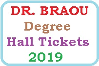 DR BRAOU Degree Hall Tickets 2019 Download