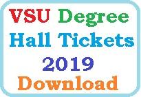 VSU Degree Hall Tickets 2019