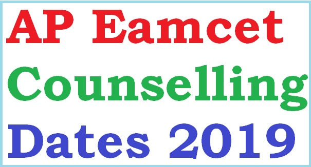 AP Eamcet 2019 Counselling dates