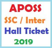 APOSS SSC Inter Hall Ticket 2019
