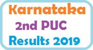 Karnataka 2nd PUC Results 2019