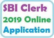 SBI Clerk 2019 Apply Online