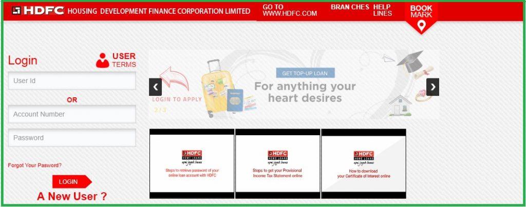 HDFC Home Loan Login