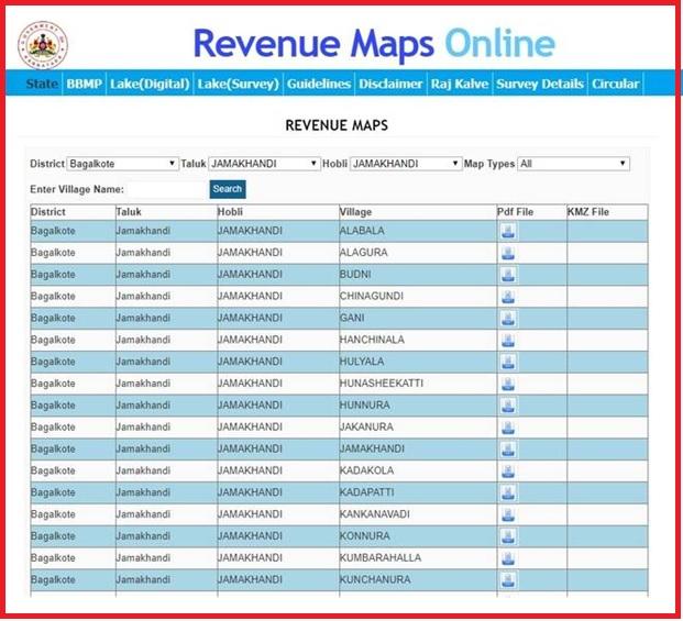 karnataka revenue maps online