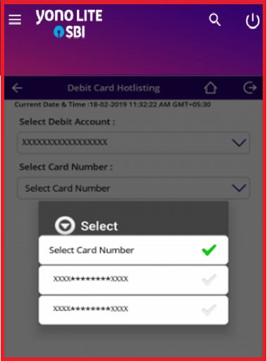 state bank of india ATM Card block through mobile banking