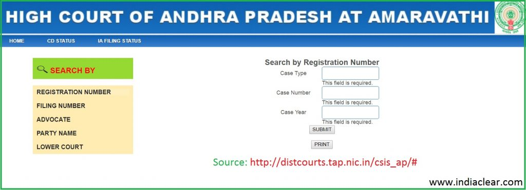 Amaravati High Court Case Status Check Online