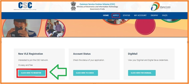 csc registration 2019 online apply