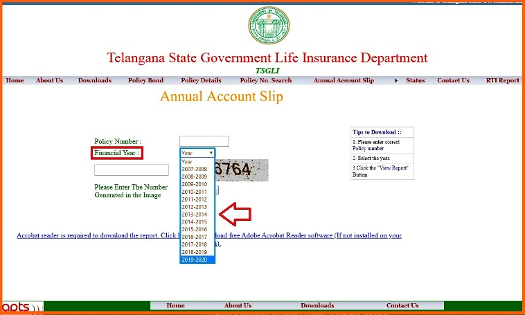 Download TSGLI Annual Account Slips Policy Details