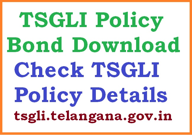 TSGLI Policy Bond Download, Check TSGLI Policy Details