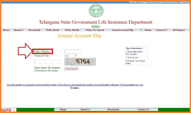 TSGLI Annual Account Slips Download 2020 Missing Credits ...