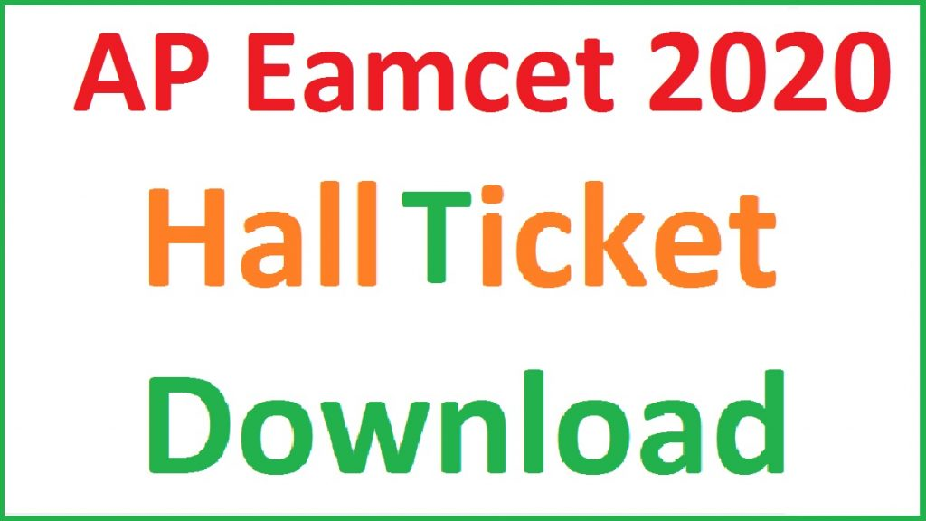 AP Eamcet 2020 Hall ticket Download
