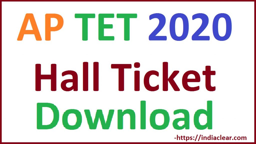 AP TET Hall Ticket 2020 Download