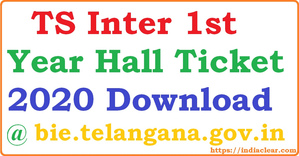 TS Inter 1st Year Hall Ticket 2020 Download