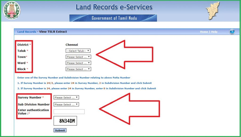 Patta Chitta Tamil Nadu Land Record website e services tn gov in