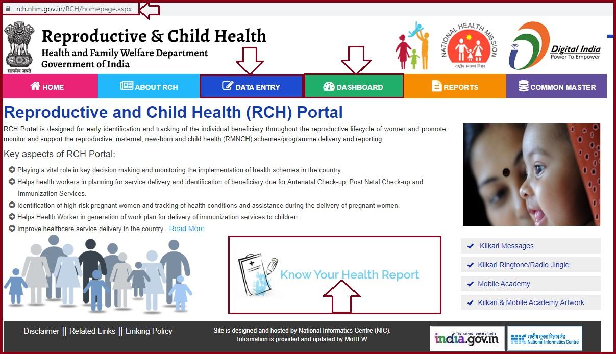 Rch.nhm.gov.in Data Entry